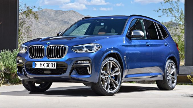 2018 BMW X3 front