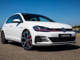 2019 Volkswagen Golf GTi Review front