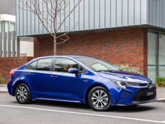 2020 Toyota Corolla SX Hybrid sedan.